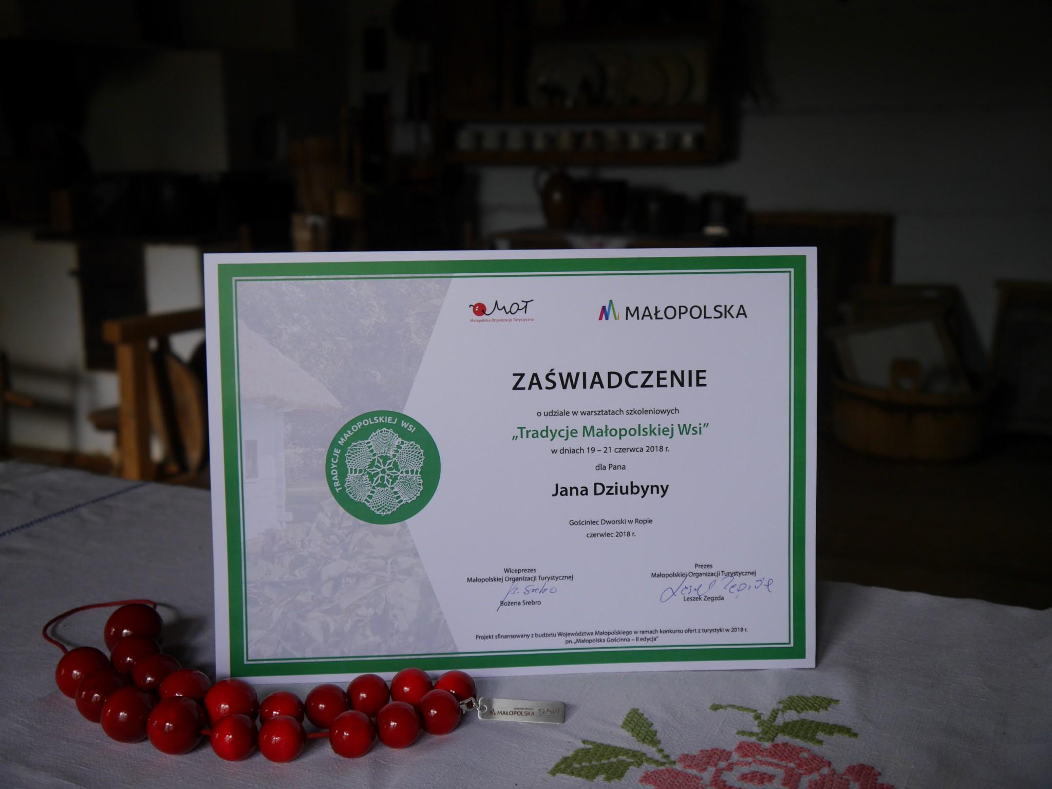 """Projekt """"Tradycje Małopolskiej Wsi"""""""