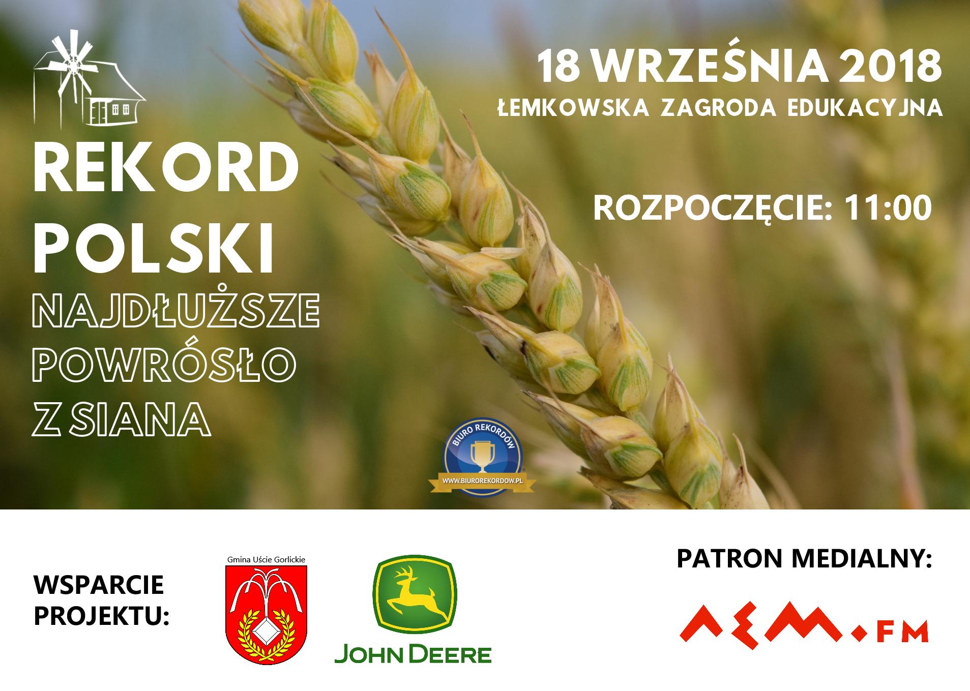 """Bicie Rekordu Polski w kategorii ,,Najdłuższe powrósło z siana"""","""